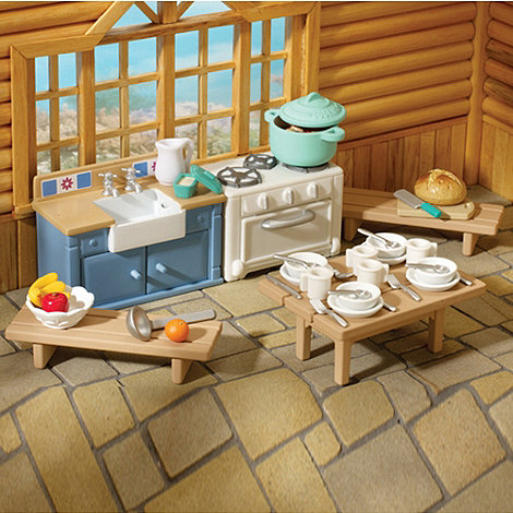 Sylvanian Families - Rustic Kitchen Furniture