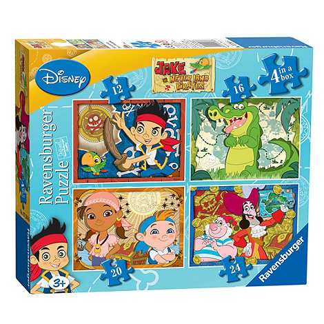 Jake & The Neverland Pirates - Neverland Pirates 4 in a box puzzle