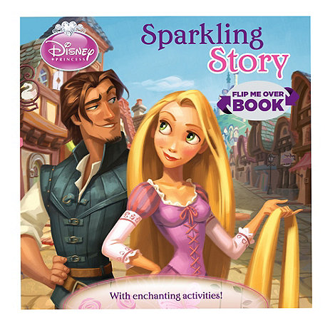 Parragon - Disney Princess Sparkling Story Flip Me Over Activity Book