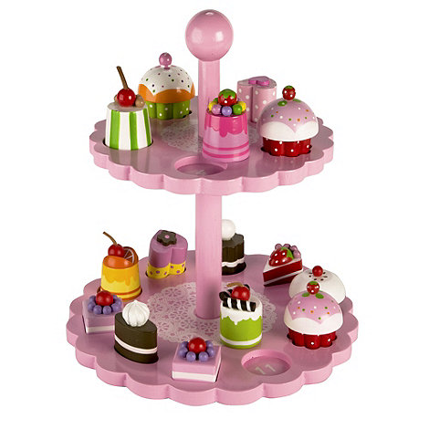 Tidlo - Wooden high tea shape matching set