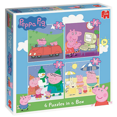 Peppa Pig - 4 Puzzles in a Box