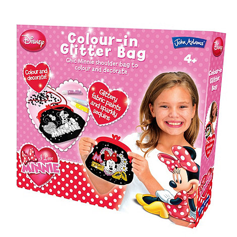 Minnie Mouse - Colour in Glitter Bag
