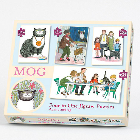 Paul Lamond Games - Mog 4 in 1 jigsaw puzzles