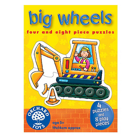 Orchard Toys - Big wheels jigsaw puzzles