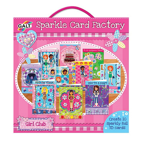 Galt - Girl Club Sparkle Card Factory