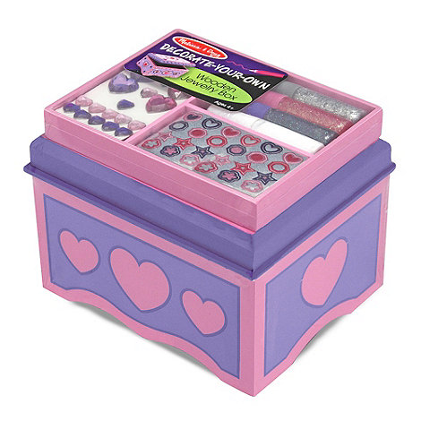 Melissa & Doug - Decorate your own wooden jewellery box