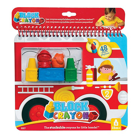 Block Crayon - Fire Truck colouring book