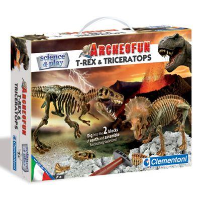Clemontoni Science & Play Archeofun T-Rex And Triceratops - . -