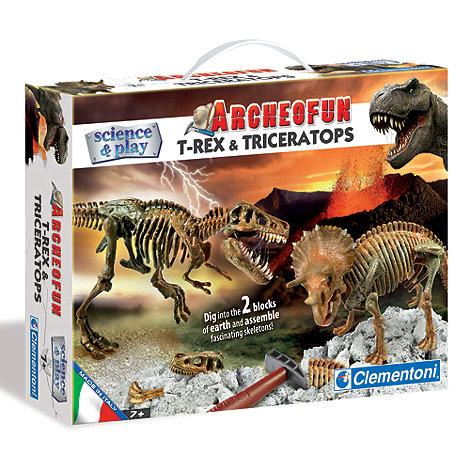 Clemontoni - Science & Play Archeofun T-Rex And Triceratops