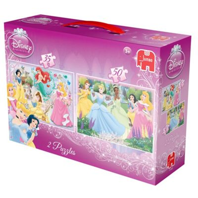 Disney Princess 2 in 1 Puzzle (35pc + 50pc) - . -