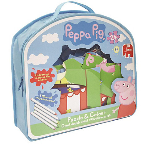 Peppa Pig - Colour & Puzzle Case