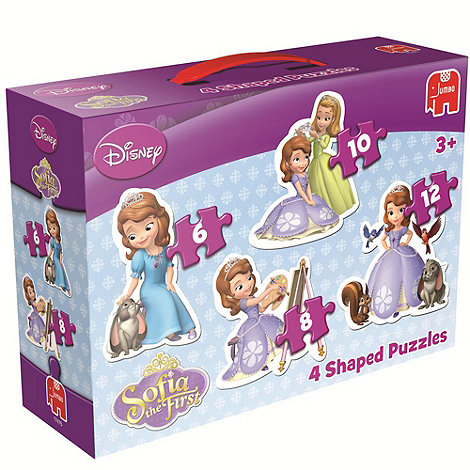 Disney Sofia the First - 4 In 1 Shaped Puzzles
