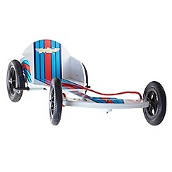 kiddimoto - Wooden Box Kart - Red/White/Blue
