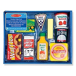 Melissa & Doug - Wooden Fridge Food