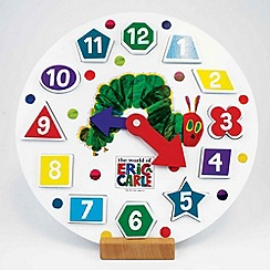 The Very Hungry Caterpillar - Wooden Shape Sorter Clock