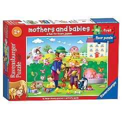 Ravensburger - My First Floor Puzzle, Baby Animals, 16pc