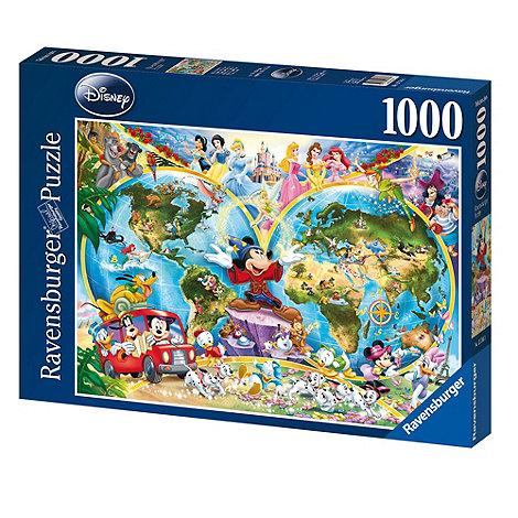 Disney - Ravensburger World Map, 1000pc