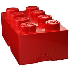 Lego - Storage Brick 8 Stud - Red