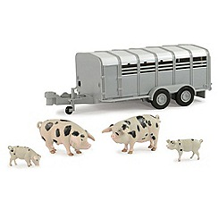 Britains Farm - JD Big Farm Pig Trailer & Pigs