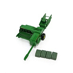 Britains Farm - JD  Big Farm 348 Baler & Bales