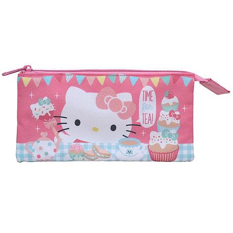 Hello Kitty - Tea Party 3 Pocket Pencil Case