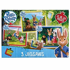 Beatrix Potter - Peter Rabbit 3 In A Box Puzzles