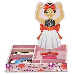 Melissa & Doug - Nina Ballerina Magnetic Wooden Dress-Up Doll