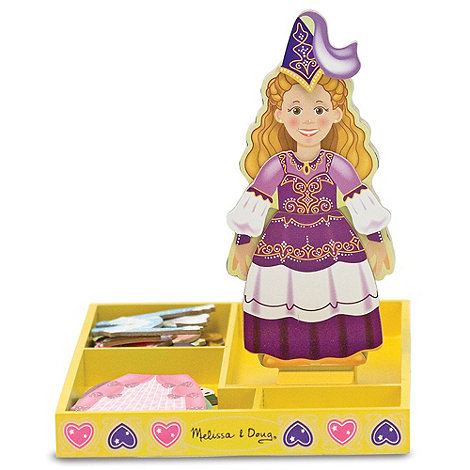 Melissa & Doug - Princess Elise Magnetic Wooden Dress-Up Doll