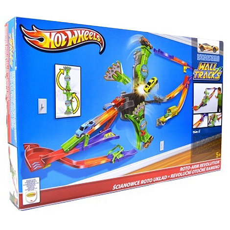 Hot Wheels - Wall Tracks Roto-Arm Revolution Set