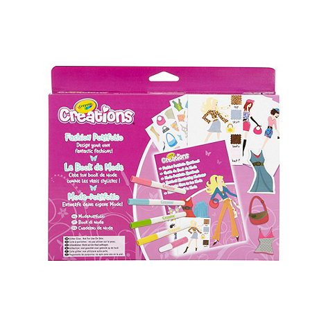 Crayola Creations Fashion Portfolio Design Set Debenhams