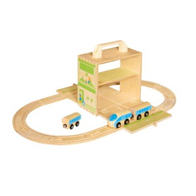 Casdon Boxset Foldout Wooden Train - . -