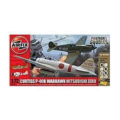 Airfix - WWII Dfd P-40D Tomahawk & Mitsubishi Zero