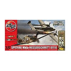 Airfix - WWII Dfd Spitfire Mk1A & Messerschmitt Bf110C