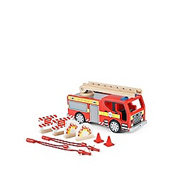 Tidlo - Wooden fire engine set