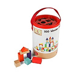 Tidlo - 100 wooden blocks