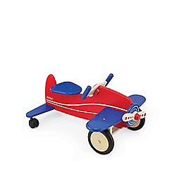 Pintoy - Wooden sit 'n' ride aeroplane