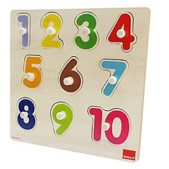 Jumbo - Wooden numbers peg puzzle