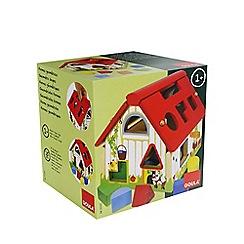 Jumbo - Wooden farmhouse shape sorter toy