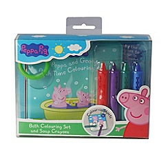 Peppa Pig - Bathtime Colouring Sheets & Crayons
