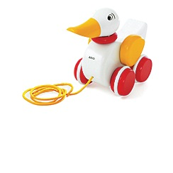 Brio - Pull Along Duck white