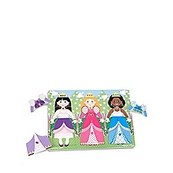 Melissa & Doug - Wooden Peg Puzzle - Princess Dress-Up
