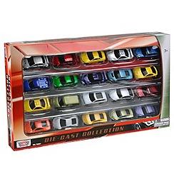 Motormax - 3 inch diecast 20 car set