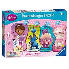 Doc McStuffins - Ravensburger 4 Shaped Puzzles (10,12,14,16pc)