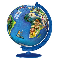 Disney - World Map 3D Puzzle, 180pc puzzle