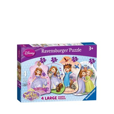 Disney Sofia the First Ravensburger 4 Shaped Puzzles (10,12,14,16pc) - . -