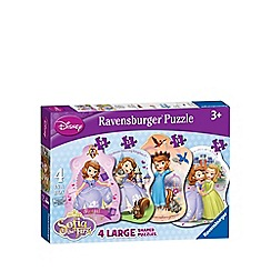 Disney Sofia the First - Ravensburger 4 Shaped Puzzles (10,12,14,16pc)