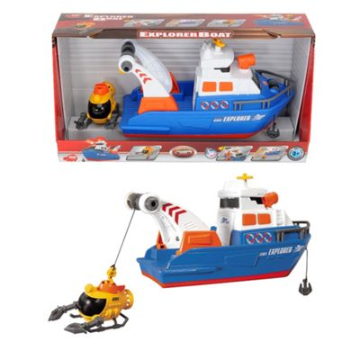 Dickie 33cm light and sound explorer boat - . -