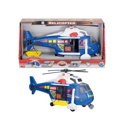 Dickie 41cm light and sound blue rescue helicopter - . -