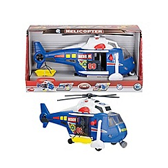 Dickie - 41cm light and sound blue rescue helicopter