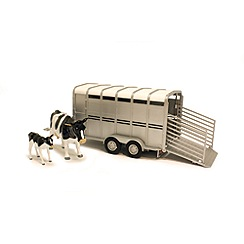 Britains Farm - Big Farm Cattle Trailer With Cows